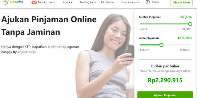 pinjaman online resmi terdaftar OJK Tunaiku